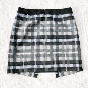 Karen Millen Plaid Skirt checkered Pattern SZ10